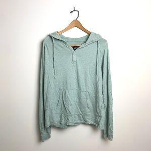 CARBON mint hoodie sweatshirt, sz M